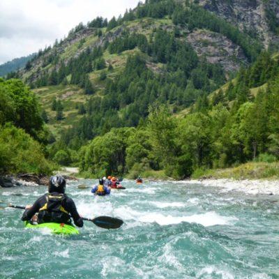 Sur le Guil dans les Hautes-Alpes