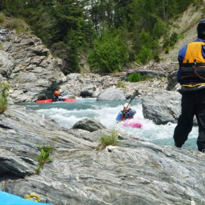 Combes de l'Ange Gardien sur le Guil dans les Hautes-Alpes.