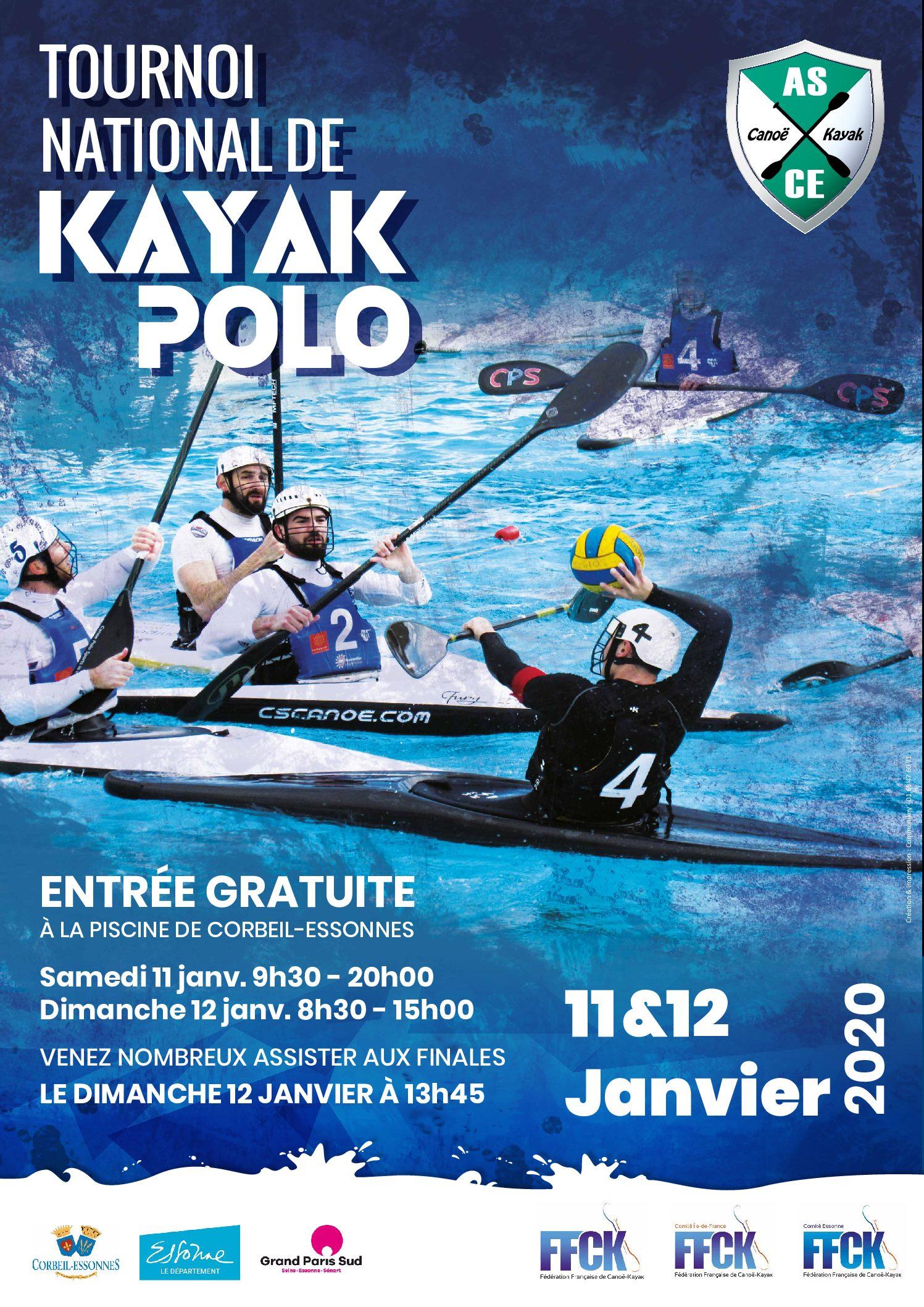 Tournoi National Kayak Polo 11 et 12 janvier 2020