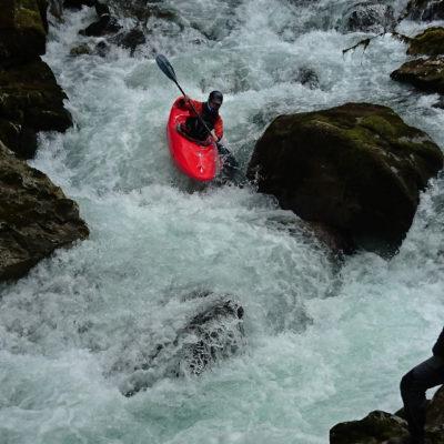Le rapide de l'entrée des Gorges du Garbet, Ariège