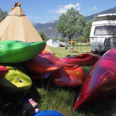 Camping dans les Alpes françaises
