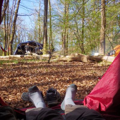 Camping sauvage sur le Chalaux
