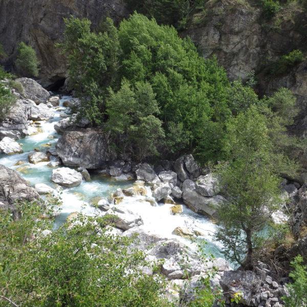 Chaos rocheux et passage V des Gorges de Prelles par basses eaux